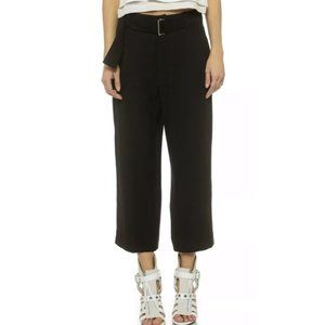 IRO Daril Cropped Culottes Pants in Black